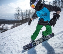 Snowboarding at Boyne Highlands