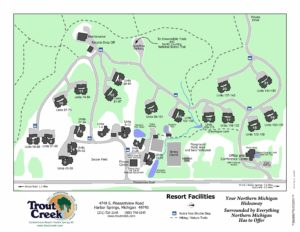 Ski Resort Michigan Map.Resort Hiking Trail Maps