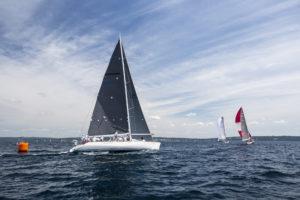 sailboats sailing in the little traverse bay regatta